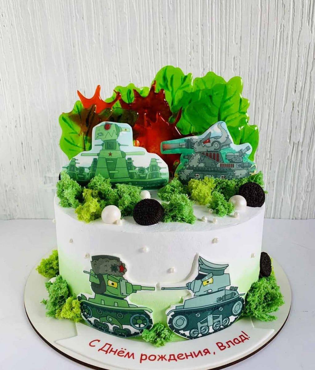 Торт мультик Танки
